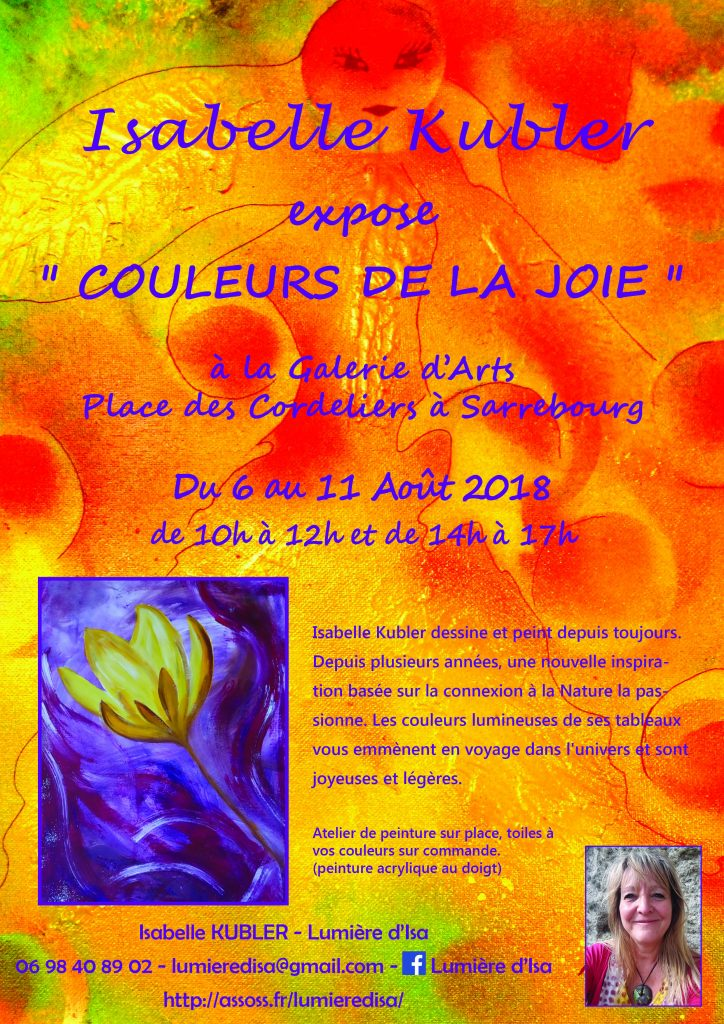 Affiche expo tableaux Sbg